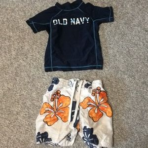 4t boys swim wear.  Shorts and shirt old navy